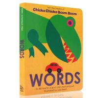 英文原版绘本 Words 纸板书 Chicka Chicka Boom Boom 同系列同作者 儿童英语启蒙