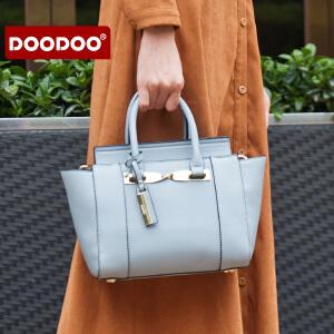 【支持礼品卡】DOODOO 女士手提包包2017新款斜挎包包韩版时尚百搭单肩女包大容量 D6122