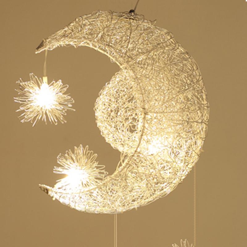 吊灯 LED创意个性卧室客厅书房灯现代简约儿童房间灯餐厅吧台灯阳台艺术灯 创意灯具 偏远及部分地区不发货