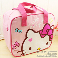 可爱卡通饭盒袋手提四方保温袋妈咪包收纳袋便当包防水帆布包