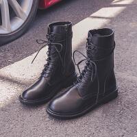 2019�R丁靴女�W�t短靴子英���L高��壤��中筒����C��靴�T士靴