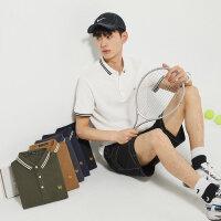 太平鸟男装 2020夏季新品男士时尚商务休闲POLO衫刺绣翻领短袖T恤