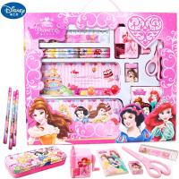 DISNEY 迪士尼公主铁笔盒套装儿童开学礼物女童学习用品文具套盒
