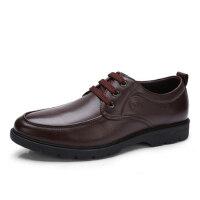 骆驼牌男鞋 秋季新品系带商务休闲皮鞋头层牛皮低帮男鞋
