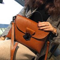 包包女新款手提包欧美时尚复古牛皮女包单肩斜挎包真皮小方包