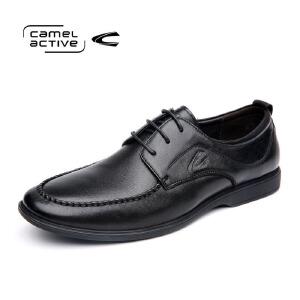 Camel Active/骆驼动感男鞋真皮商务皮鞋男真皮圆头系带爸爸鞋