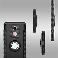 BaaN 红米NOTE4X手机壳创意支架指环车载防摔多功能保护套 酷黑色