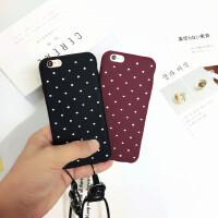 ins波点iPhone6s Plus手机壳苹果7代挂绳软壳5/5s/SE/6潮男女