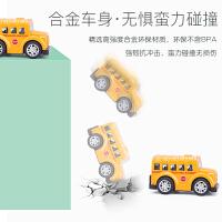 儿童合金小汽车玩具回力车男孩宝宝玩具小车工程车模型套装