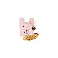 【年货】诗特莉宝贝熊125g 台湾进口牛奶巧克力燕麦手工喜饼饼干休闲零食品