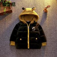 男童冬装0-4周岁宝宝婴儿童装3加厚棉袄小男孩外套