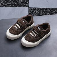 秋冬季儿童休闲豹纹板鞋宝宝运动鞋男童女童棉鞋