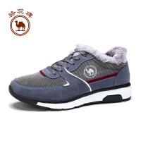 骆驼牌男鞋  冬季舒适休闲鞋运动风男士保暖耐磨系带低帮鞋