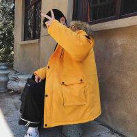 冬季男士棉衣韩版中长款羽绒棉袄工装外套潮牌ins冬装衣服潮
