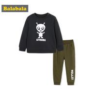 巴拉巴拉童装男童套装小童宝宝上衣裤子秋装2017新款儿童两件套潮