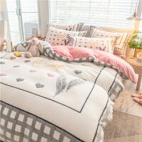 冬季卡通床上四件套珊瑚绒双面加厚保暖法兰绒儿童床单被套