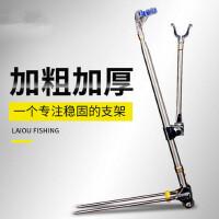 钓鱼支架地插炮台多功能鱼竿架子钓鱼架杆不锈钢支架渔具用品
