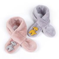 秋冬季新款韩版儿童围巾男女童宝宝毛绒围脖 婴儿加厚保暖小孩脖套