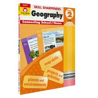 Evan-Moor Skill Sharpeners Geography Grade 2 小学二年级地理练习册 美国加