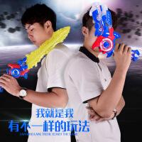儿童发光音乐玩具枪 电动声光变形闪光剑 二合一男孩武器玩具
