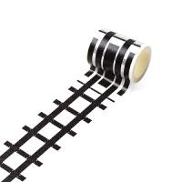 儿童DIY道路交通和纸胶带马路铁路火车轨道设计贴纸胶带