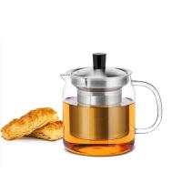 尚明玻璃茶壶花茶壶 耐热玻璃茶具不锈钢过滤加厚玻璃茶壶泡茶壶700ml S046 1200ML