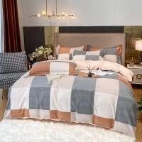 伊迪梦家纺 全棉磨毛四件套加厚保暖床单被套春夏季床上用品套件1.8/2.0床CV802