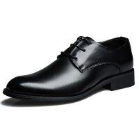 春秋夏季男士休闲皮鞋英伦商务系带青年正装鞋冬季男加棉尖头皮鞋