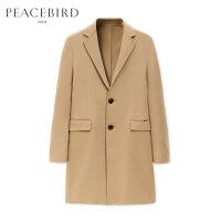 太平鸟男装毛呢大衣中长款商务休闲男士双面呢大衣冬季加厚呢大衣