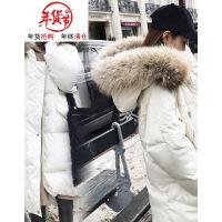 女中长款2018冬新款ins面包服过膝学生棉袄羽绒棉衣加厚外套