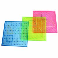 小卡尼钉子板 数学钉板 1403学生用教学实验几何图形板教具