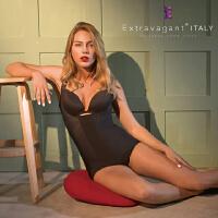 Extravagant 塑身衣意大利咖啡因连体女产后收腹美体束身束腰燃脂减肥瘦身衣正品 三角款黑色 XL