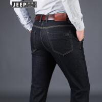 吉普JEEP莱赛尔天丝棉男士微弹秋冬牛仔长裤舒适柔软休闲裤户外直筒长裤
