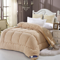 御目 仿羊毛被 秋冬季仿羊羔绒保暖加厚学生宿舍单双人棉被双面透气被褥被子家居床上用品
