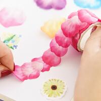 日式水彩樱花和纸胶带 彩色单片花瓣贴纸日记本手账相册diy装饰贴
