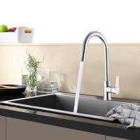 天王卫士单孔厨房龙头天卫浴铜洗菜盆抽拉水可万向旋转水槽冷热混水阀