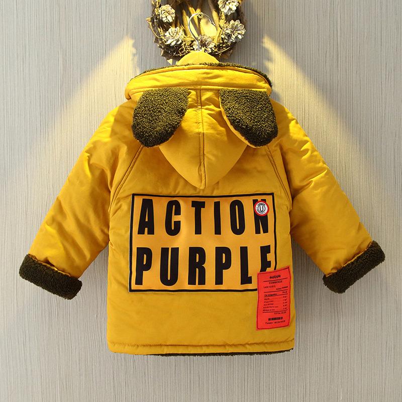男童棉衣中长款潮1-3儿童冬装5岁宝宝羊羔毛外套