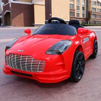 婴儿童电动玩具车4四轮遥控汽车可坐人1-5岁男女孩宝宝充电带摇摆儿童节礼物 高配红