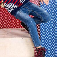 【159元选2件】暇步士童装男童牛仔裤新款秋装中大童裤子儿童时尚牛仔长裤