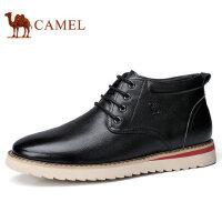 camel 骆驼男靴 冬季新品柔软舒适休闲鞋缓震防滑日常休闲皮靴