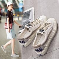 帆布鞋女学生百搭2019春季网红小白鞋板鞋女韩版ulzzang夏季透气