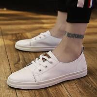 2018新款小白鞋男鞋韩版秋季百搭平底板鞋秋冬季白鞋白色百搭休闲皮鞋