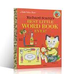 英文原版进口绘本 Best Little Word Book Ever 斯凯瑞金色童书 小小单词认知书 3-7岁英语常