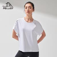 【5折再叠加店铺券】伯希和户外速干T恤女夏季圆领时尚休闲运动短袖跑步健身衣