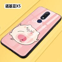 20190721050523855诺基亚x5手机壳钢化玻璃时尚防摔Nokia x5保护套卡通可爱女款软硅胶全包TA-1