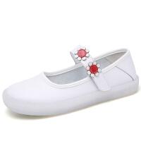 新款护士鞋镂空圆头软底防水台白色坡跟女平底妈妈鞋休闲单鞋