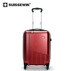 【SUISSEWIN旗舰店 支持礼品卡支付】20寸高品质旅行拉杆箱TSA三轮海关密码锁360度静音万向轮防磨损设计