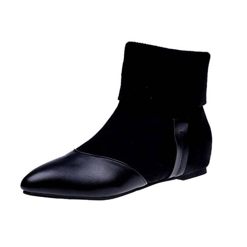20190920134953563尖头靴子女内增高短靴秋冬季新款韩版百搭时尚女士马丁靴加绒潮