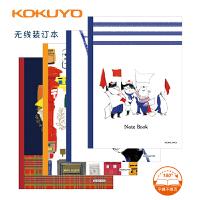 日本国誉KOKUYO笔记本 记事本 无线装订 邮便猫系列 2款可选 B5/A5 图案*