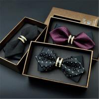 茉蒂菲莉 领结 潮品金属韩版正装新郎伴郎蝴蝶结婚礼领结